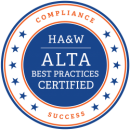 HA & W ALTA Best Practices Certified Seal